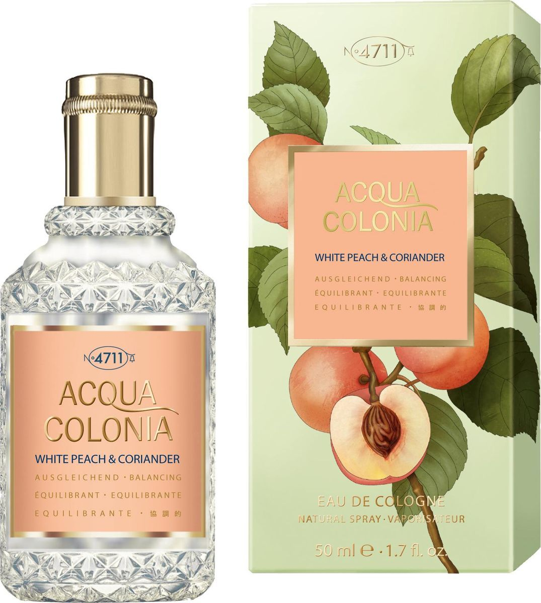 Одеколон унисекс Maurer and Wirtz 4711 Acqua Colonia White Peach and Coriander  - edc 50 ml