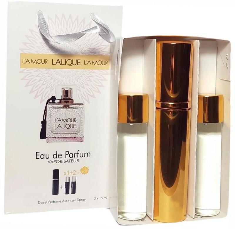 Набор с феромонами Lalique L'Amour (3×15 ml)