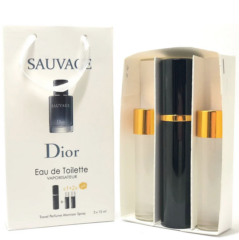 Набор с феромонами Christian Dior Sauvage (3×15 ml)