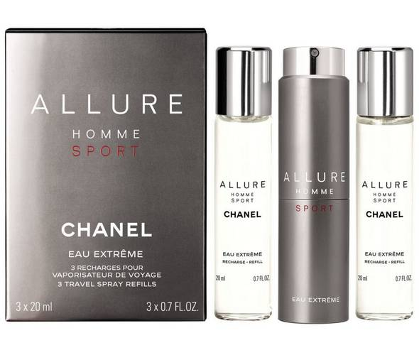 Chanel Allure Homme Sport Eau Extreme (тестер lux) набор 3*20ml