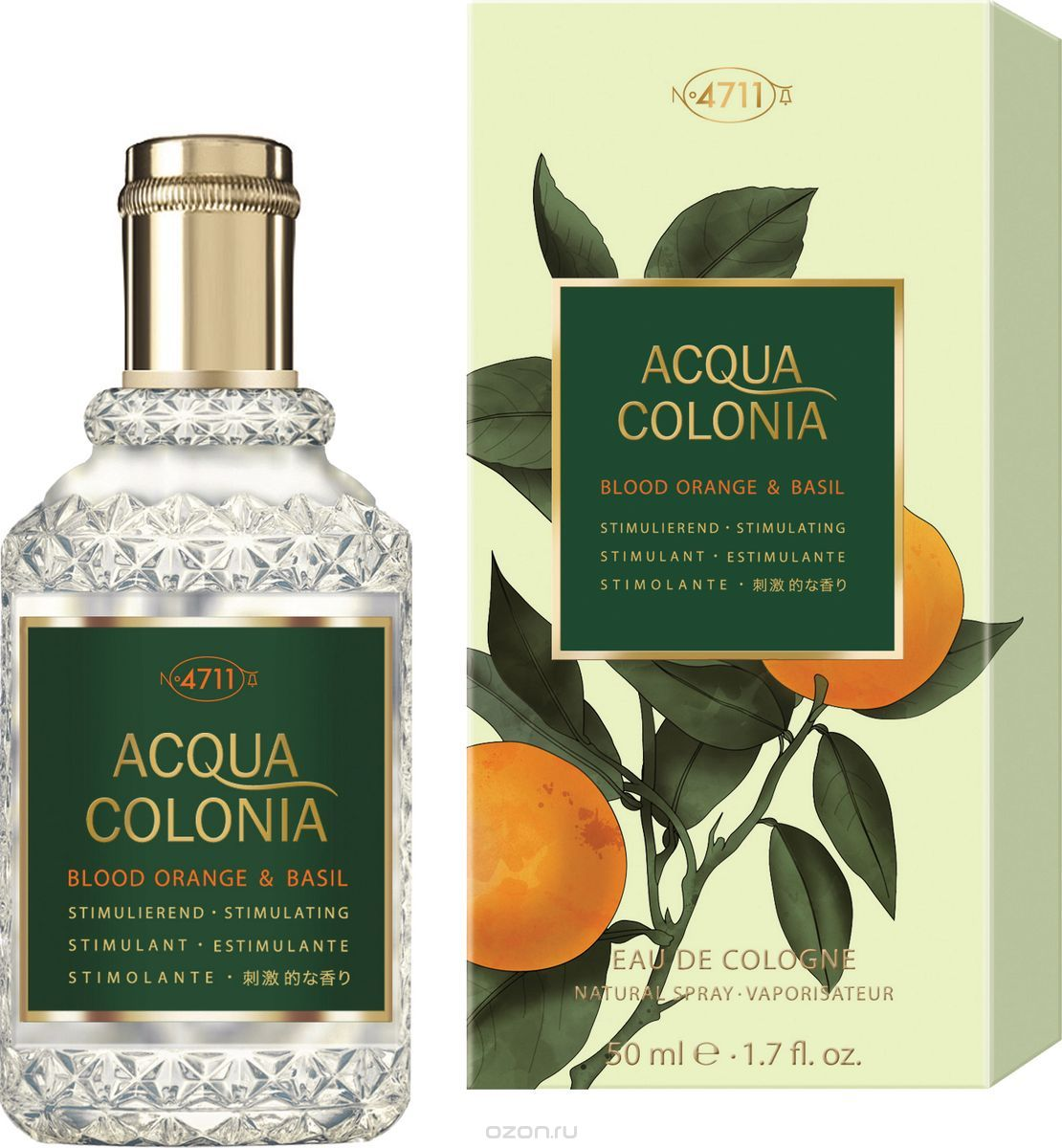 Одеколон Maurer and Wirtz 4711 Acqua Colonia Blood Orange and Basil унисекс  - edc 50 ml